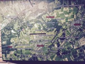 Overzichtskaart, te zien bij Manege Holtingerzand - foto Hans Krol