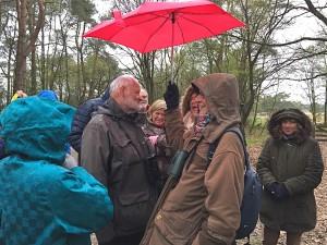 Josée bedankt Arend voor het leiden van de excursie - foto Greet Glotzbach